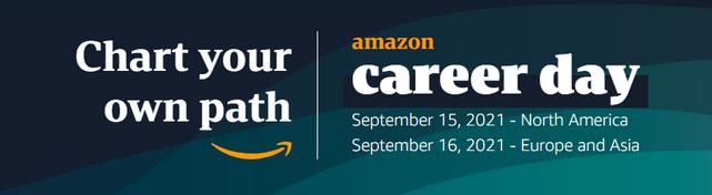 亚马逊2021年Career Day将于9月15日开启