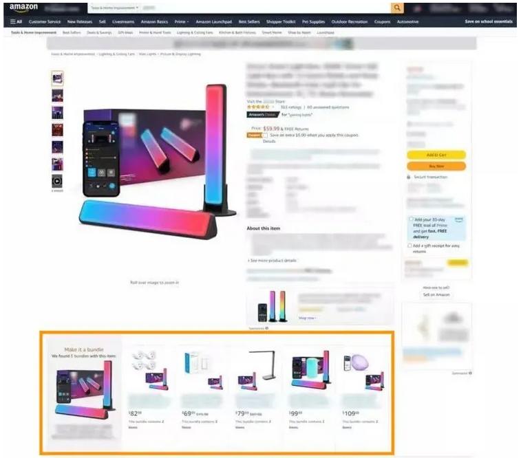 亚马逊Listing的这个位置还有流量入口?捆绑组合销售出一单货赚多份钱!